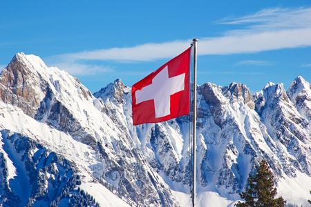 swiss: Winter in the swiss alps, Switzerland