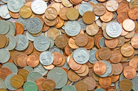 gold and silver coins: Huge pile of the US coins