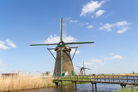 Ancient windmills near Kinderdijk, Netherlands photo