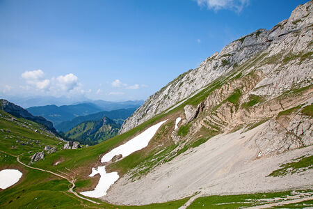 View near the summit of the Pilatus mountain photo