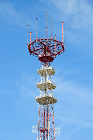 telco: Telecommunications Antenna against blue sky