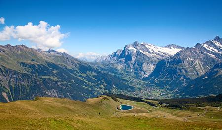 Summer landscape in the Jungfrau region photo