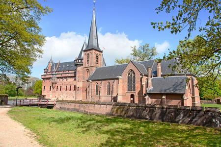 utrecht: Ancient De Haar castle near Utrecht, Netherlands