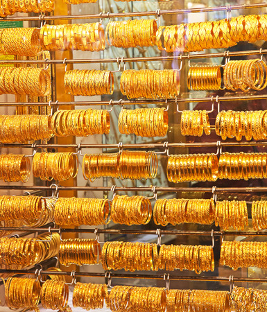 Gold on the famous Golden souk in Dubai photo