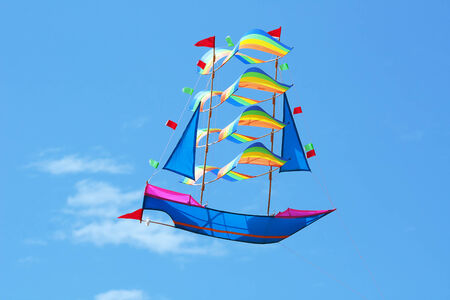 Traditional balinese kite in the sky photo