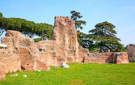 Ruins of the forum in Rome, Italy photo