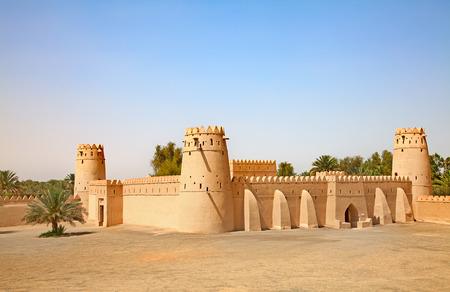 Beroemde Jahili fort in Al Ain oase, Verenigde Arabische Emiraten Stockfoto