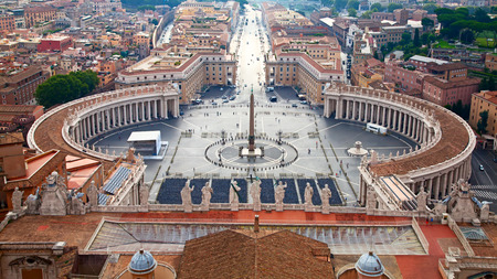 View on the St.Peters square from the dome