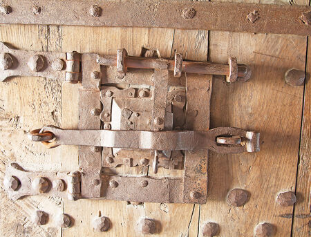 Ancient lock in the medieval castle Aigle, Switzerland