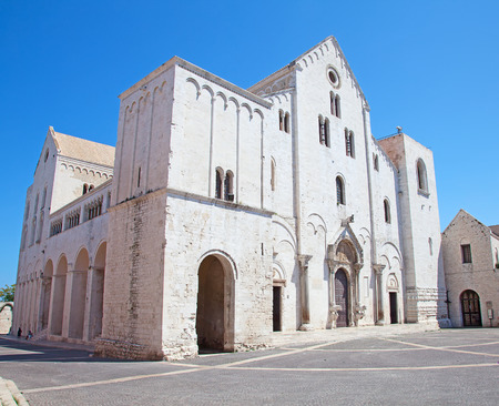 Beroemde kerk van Sinterklaas in Bari, Italië Stockfoto