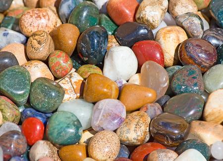 Collection of the semi precious stones photo