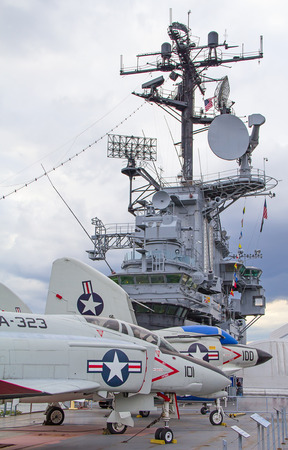 deck cannon: Frament of the eqipment of the US Navy battle ship