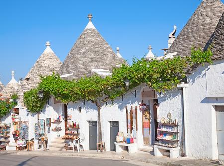 "Traditionele ""Trulli"" huizen van de regio Apulië"