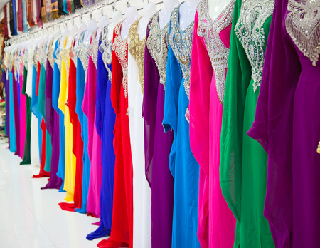 Textile souk (market) in Dubai, United Arab Emirates Banque d'images