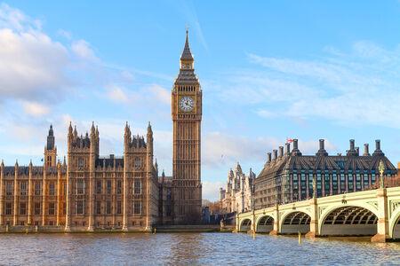 GRANDE: Famosa Torre del reloj Big Ben de Londres, Reino Unido.