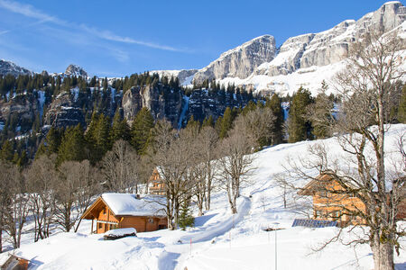 glarus: Winter in the swiss alps (Braunwald, Glarus, Switzerland)