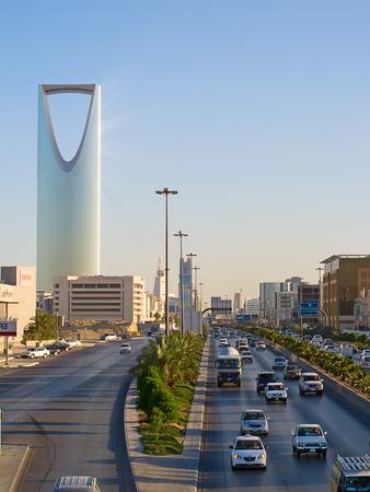 RIYADH - DECEMBER 22: Kingdom tower on December 22, 2009 in Riyadh, Saudi Arabia. Kingdom tower is a business and convention center, shoping mall and one of the main landmarks of Riyadh city
