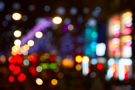 Night lights of the London city photo
