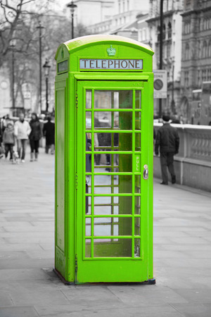 telephone booth: Famous telephone booth in London, UK