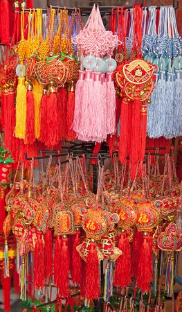 Traditional chinese souveniers on the street market photo