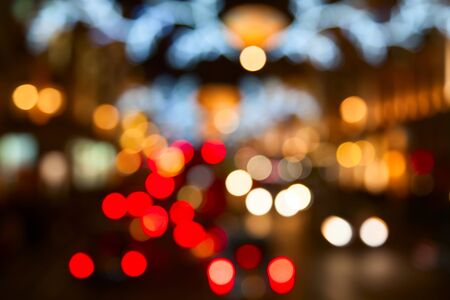 crowded space: Night lights of the London city Stock Photo