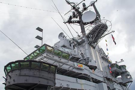 米海軍の戦いの装置の frament 船します。