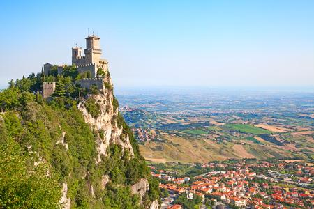san marino: Ancient fortifications of the San Marino