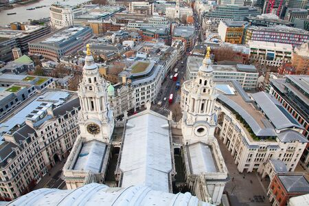 Aerial view of the London, UK