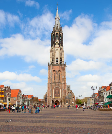 delft: Famous new church of Delft, Netherlands Stock Photo