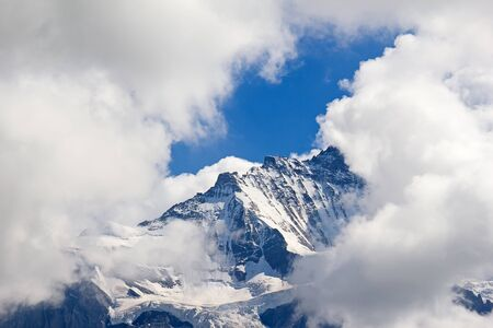 eiger: Eiger mountain in the Jungfrau region Stock Photo