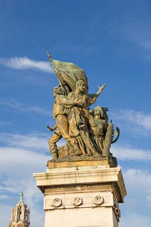 statue: Famous Altare della Patria in Rome, Italy
