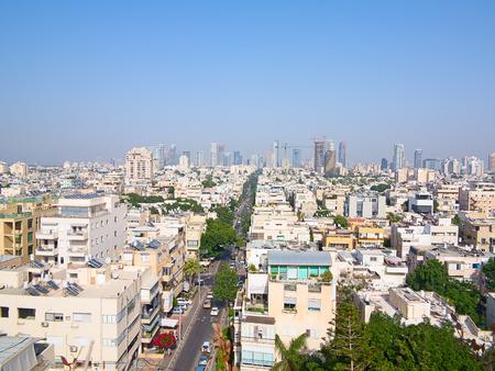 Hoofdstad van Israël - Tel Aviv stad Stockfoto