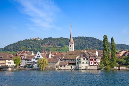 rhein: Stein-Am-Rhein medieval city near Shaffhausen, Switzerland Editorial