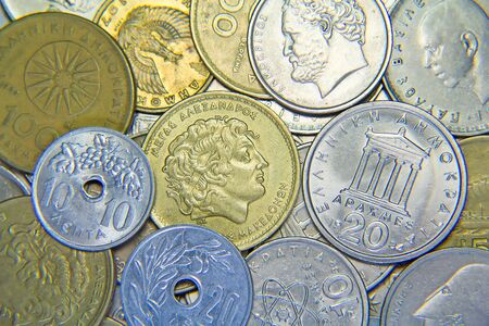 greek coins: Huge pile of the greek coins Editorial