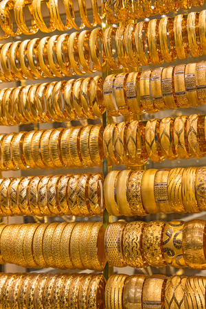 gold souk: Gold on the famous Golden souk in Dubai