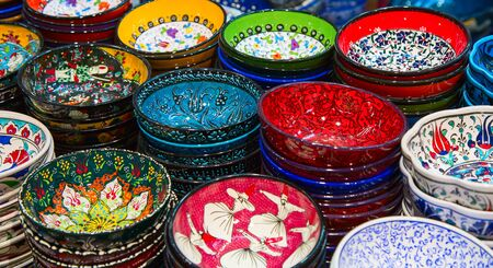 pottery: Traditional Turkish ceramics on the Grand Bazaar