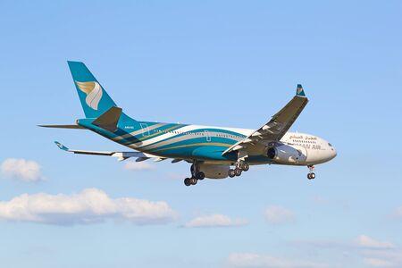 hubs: ZURICH - JULY 18: Boeing-757 Oman Air landing in Zurich after short haul flight on July 18, 2015 in Zurich, Switzerland. Zurich airport is home for Swiss Air and one of biggest european hubs. Editorial