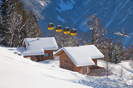 swiss alps: Winter in the swiss alps, Switzerland