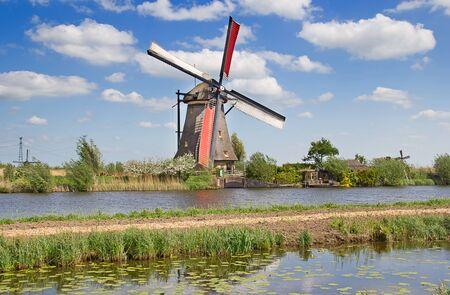water power: Ancient windmills near Kinderdijk, Netherlands
