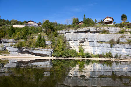 jura: Rocky Jura mountains. Switzerland, Spetember 2014.
