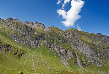 pizol: Hiking in the swiss alps: landscape near peak Pizol