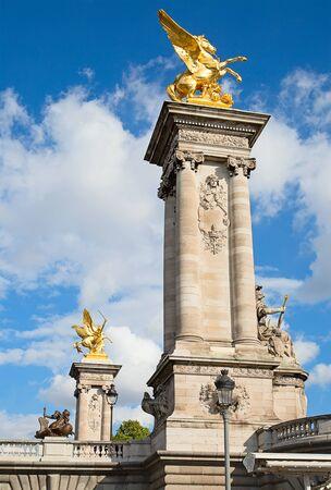 3rd ancient: Bridge of Alexandre III in Paris, France