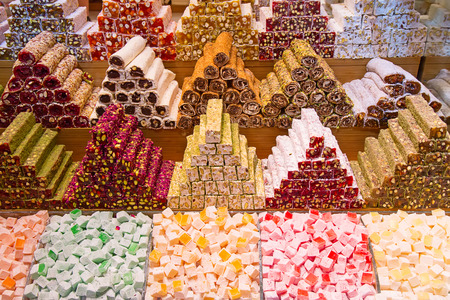 delight: Famous turkish delights on the market