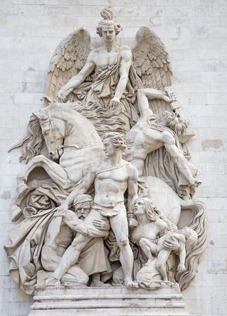 Beroemde Arc de Triomphe, Parijs, Frankrijk