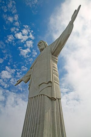 redemption of the world: Famous Christ the Redeemer in the Rio de Janeiro, Brazil