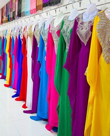 gold souk: Textile souk (market) in Dubai, United Arab Emirates Stock Photo