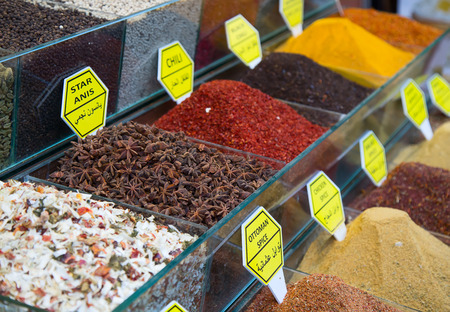 teas: Spices and teas on the Egyptian market in Istanbul
