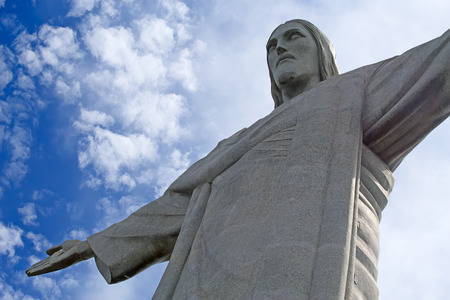 Famous Christ the Redeemer in the Rio de Janeiro, Brazil