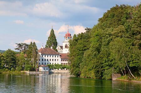 high priest: Autumn landscape nearby Rheinau monastery