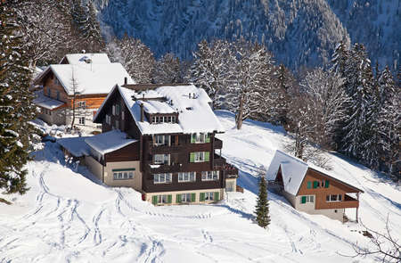 luxury lifestyle: Winter in the swiss alps, Switzerland